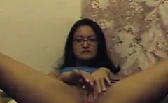 Horny Latin Woman Plays With Her Cunt