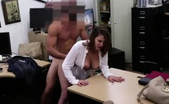 Hot and brunette business woman gets her pussy fucked