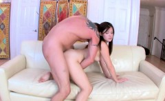 Step dad show Alison step by step how to please a rod