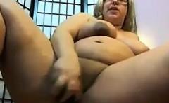 Big Blonde Woman Masturbates