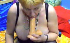 Fat Grandmother With A Dildo