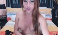 Shemale With Huge Tits Pleasuring Herself