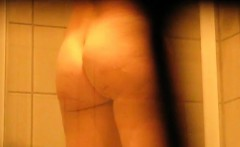 julia caught by my spy cam taking a shower