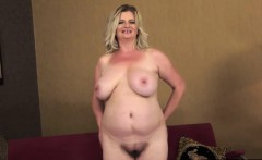 Blonde Granny In Striptease