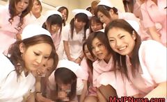 Asian nurses enjoy sex on top