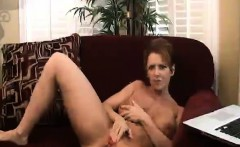 Busty Mother Fingering Her Pussy
