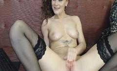Brunette Babe Fingering On Cam