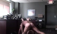 Secretary fucks boss on the floor