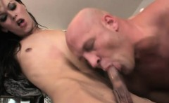 Super tight shemale gets her ass ripped in the kitchen