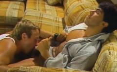Hard pounding classic bedroom anal fuck