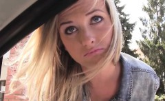 Hot and blonde Vinna Reed gets spotted and banged