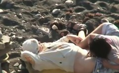 horny amateurs on the beach secretly filmed