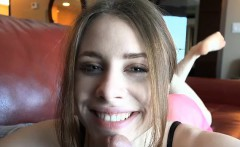 Anya's warm pussy takes a good creampie