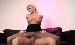Busty milf in pantyhose enjoys a good hard fuck