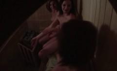 Girls Chatting in Public Sauna