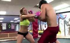 Sexy Boxer babe training