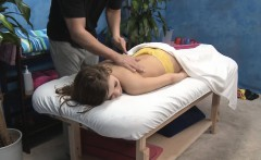 Girl blowing her masseur during massage