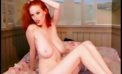 Hot Redhead Huge Tits On Webcam