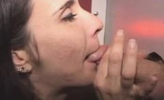 Brunette Housewife On Her Knees At Glory HOle