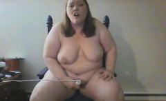 Delicious chubby bimbo is not afraid to use a vibrator on h