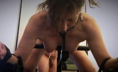 Bondage fetishist with nice boobs feeds her lust for pain a