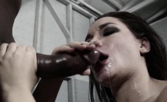 submissive drooling hard on black cock