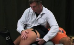 Girl gets her butts red with spanking