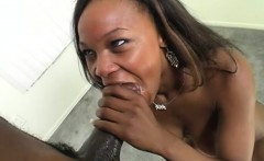 stacked ebony beauty with great oral talents is addicted to black meat