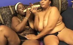 Pussy-hungry black girl moans while having her wet slit drilled