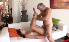 Ariana Grand gave her step dad a sloppy blowjob