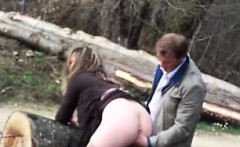 Fucked on the shoe in nature