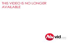 Ebony massaged babe fucks