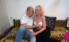 Old granny got stripped and fucked hardcore way