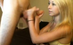 Slender and adorable blonde sucks and much more on livecam