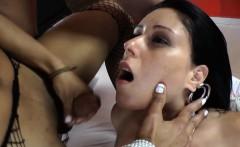 Busty fetish tgirl jizzed