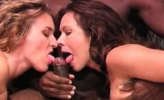 Blessed black guy fucks two hot sluts
