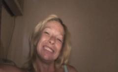 Mature Blonde Street Whore Blowjob And Cum Eating POV