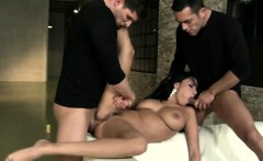 Anissa horny for threesome fun outdoors