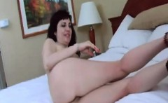 Big boobs brunette Claudine starts this scene on her knees,