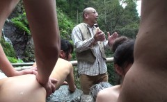 Fucking eager sluts at a hot spring in the mountains