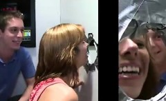 Straight guys tricked into gay blowjobs by gloryhole girls