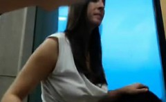 Bold amateur sex in school-library that is public