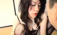Seductive Asian milf in lingerie wildly rides a young man's