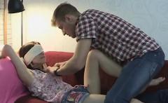 GF Masha Gets Blindfolded And Facefucked
