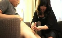 Lustful Asian lady flashes her hot curves and drives a cock