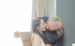 kissable schoolgirl was teased and rode by her older teacher