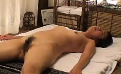 Masseuse gives his clients a special massage than makes the