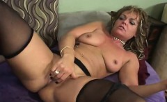 Cheating blonde wife is made to enjoy intense orgasms by a young stud