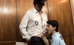 Sexy twink Ryan gets fucked roughly by the officer James