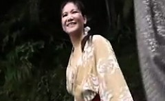 Enticing Japanese lady with nice titties gets pumped full o